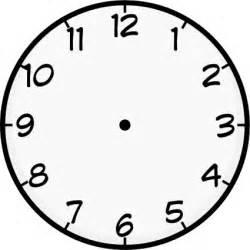 free clock face template clipart best