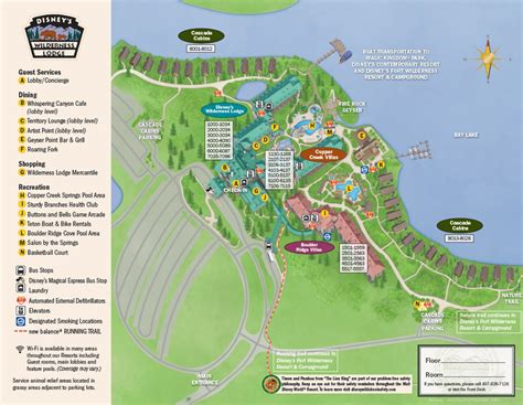 disney maps review disney s wilderness lodge yourfirstvisit net