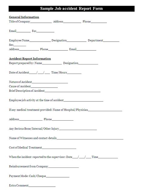 a report form is filled to report an incident