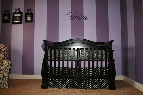 i love the purple striped wall bedrooms pinterest purple girls rooms project nursery
