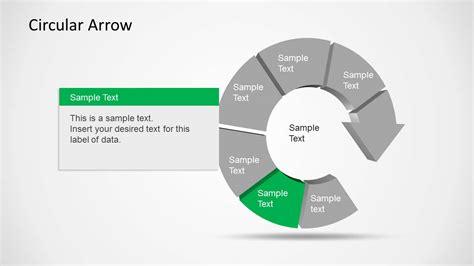 circular arrow template for powerpoint slidemodel