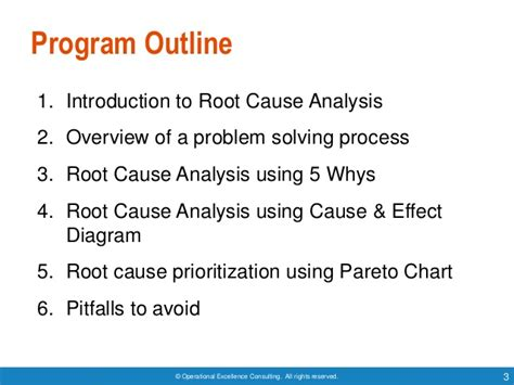 Mba Degree Caused Problems by Root Cause Analysis By Operational Excellence Consulting
