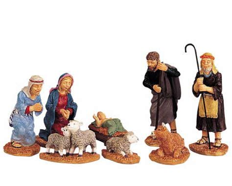 lemax village collection nativity figurines set of 8 92351