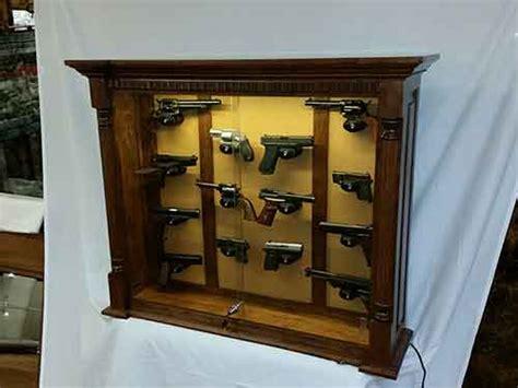 amish custom rustic cherry 14 pistol wall cabinet amish