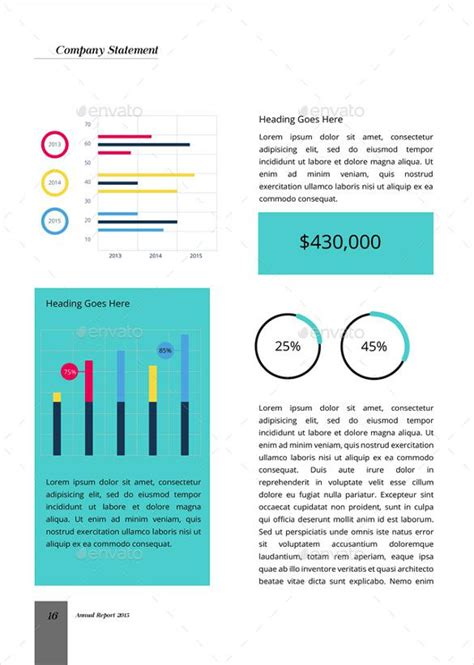 annual report template download free premium templates