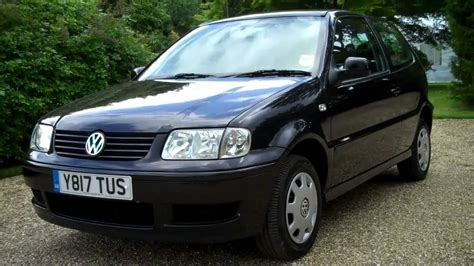 volkswagen polo 2001 2001 y vw polo match 1 4cc 3dr hatchback in black youtube
