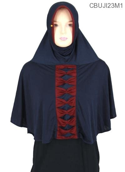 Bergo Size M Jersey jilbab bergo syar i amanah pita depan jersey