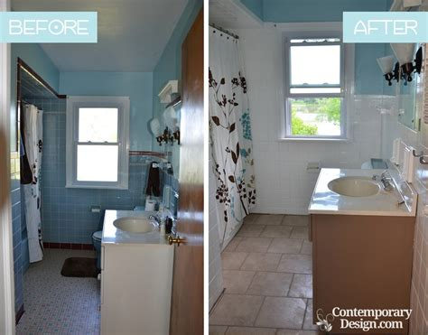 Painting Tiles In Bathroom Before And After painting bathroom tiles