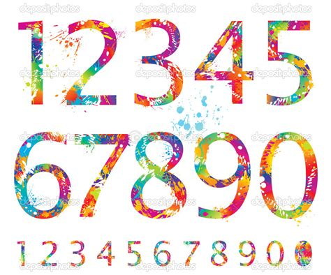 colorful fonts 12 18 number colorful fonts images free colorful fonts