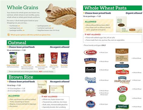 whole grains for wic michigan wic food list