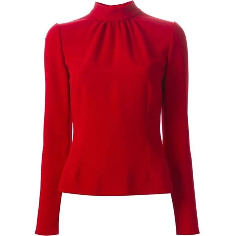 red blouses for women dolce gabbana band collar blouse 600 liked on