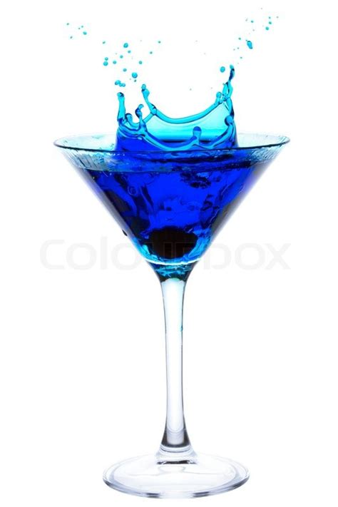 blue martini clip platschen blue martini stockfoto colourbox