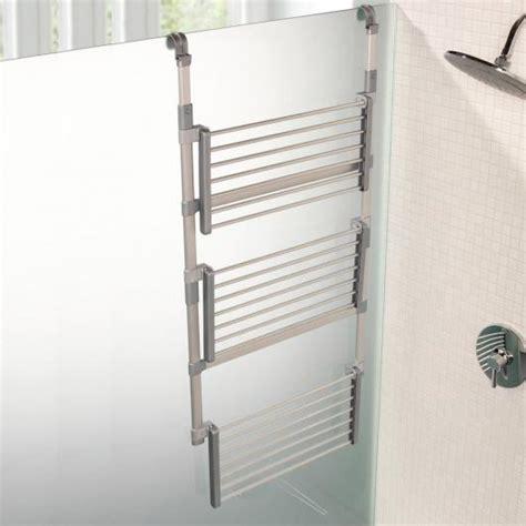 stendibiancheria da bagno stendipanni da doccia con 3 ripiani d mail