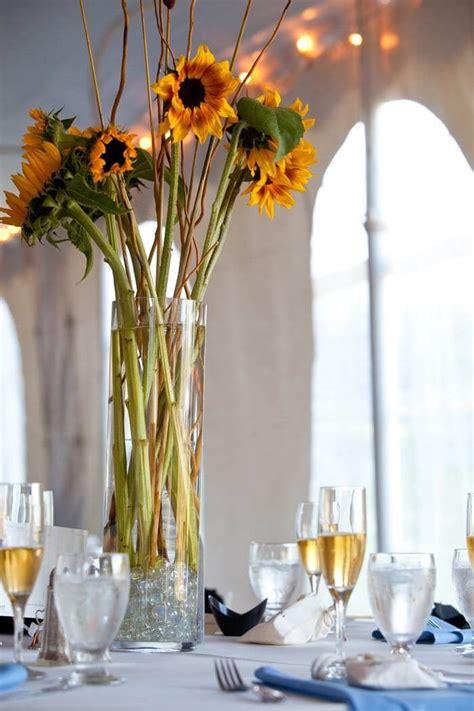 Sonnenblumen Tischdeko by Sonnenblumen Hochzeit In Gelb Grau Fotostory