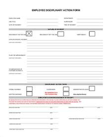 employee misconduct form template sle employee discipline form 10 exles in pdf word