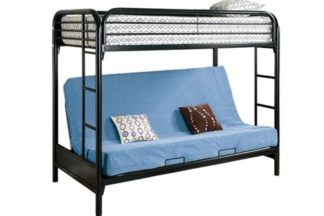 Metal Bunk Bed Frame With Futon Safe Metal Futon Bunked Outback Black Futon Bunk Bed The Futon Shop