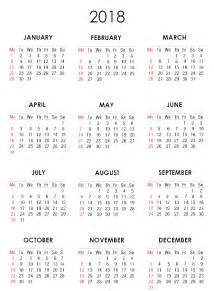 Calendar 2018 Png 2018 Calendar Png Transparent Images Png All