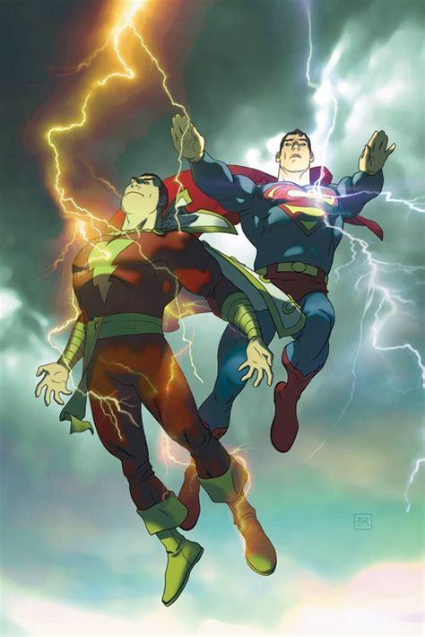superman vs captain marvel shazam superman shazam comics cartoon crossover mash up