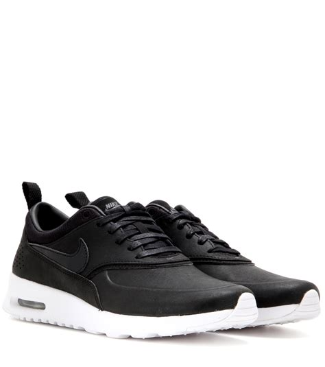 nike thea sneakers nike air max thea leather sneakers in black lyst