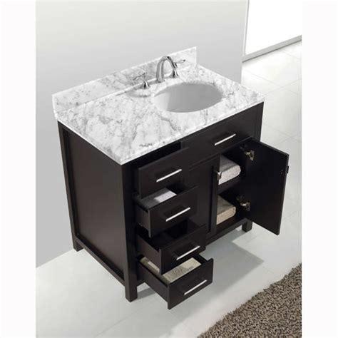 black bathroom drawers virtu usa caroline parkway 36 quot single sink bathroom vanity