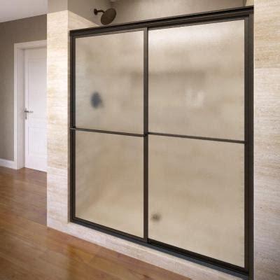 rubbed bronze shower door frame basco deluxe 56 in x 68 in framed sliding shower door in