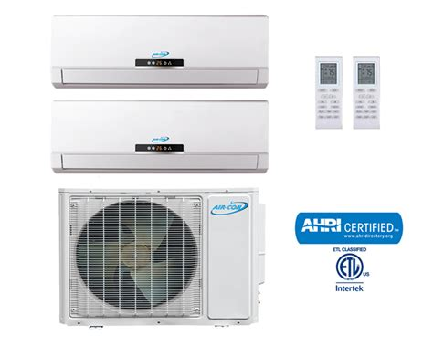 Ac Multi Split dual zone 36000 btu mini split ac unit system 2x 18000