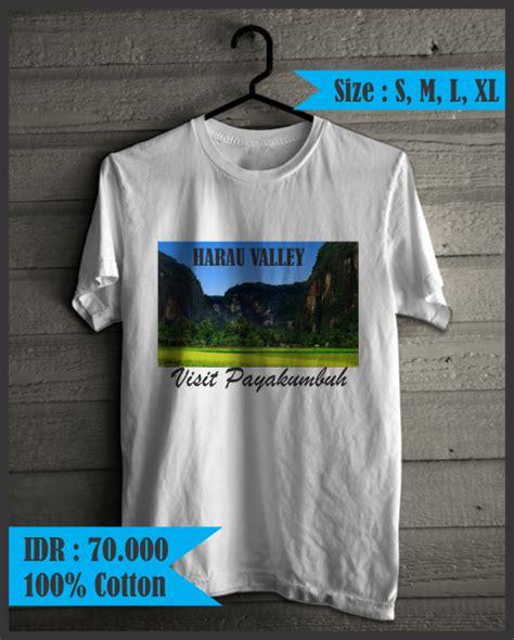 Kaos Wisata Souvenir Lombok Size L kaos khas minangkabau quot lembah harau quot pusat oleh oleh