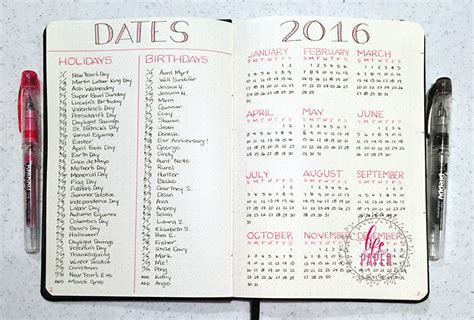 Calendar Journal 12 Amazing Bullet Journal Tips For Beginners Ideal Me
