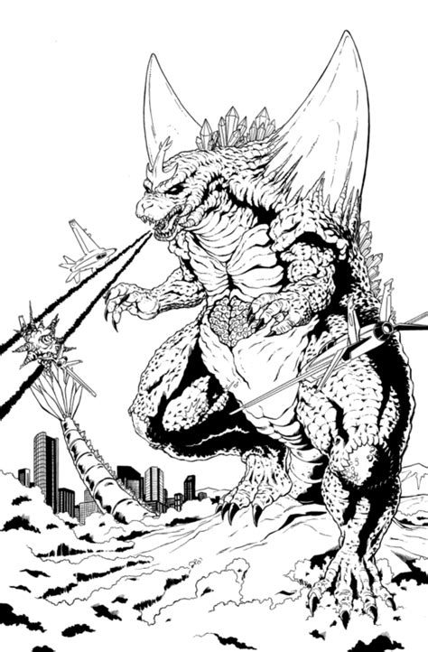 space godzilla coloring pages space godzilla drawings www pixshark com images