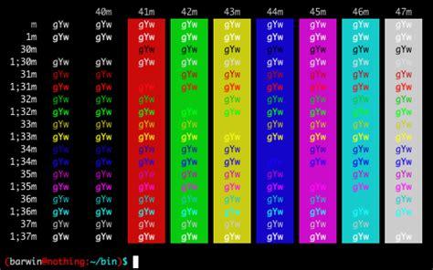 bashe color colorear texto en bash el de sinfallas