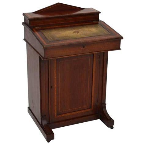 Antique Davenport Desk by Antique Edwardian Inlaid Mahogany Davenport Desk For Sale