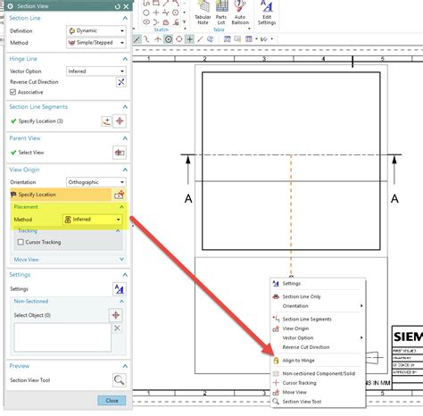 are hidden lines shown in a section view section view hidden lines siemens plm community 342079