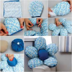 How To Make A Cushion Cover Step By Step Wonderful Diy Flower Shaped Cushion