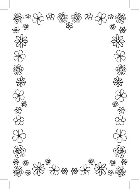 Simple Flower Border Designs For A4 Paper Cliparts Co Flowers A4 Page Borders