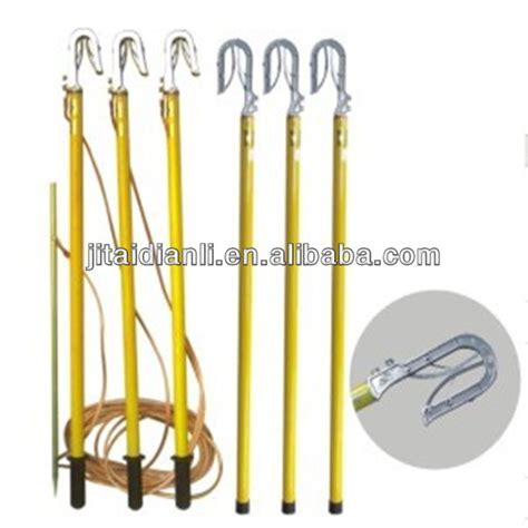 high voltage portable earthing equipment high voltage portable earth rod and wire view high