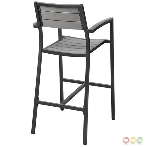patio bar stools set of 2 maine rustic wooden plank board outdoor patio