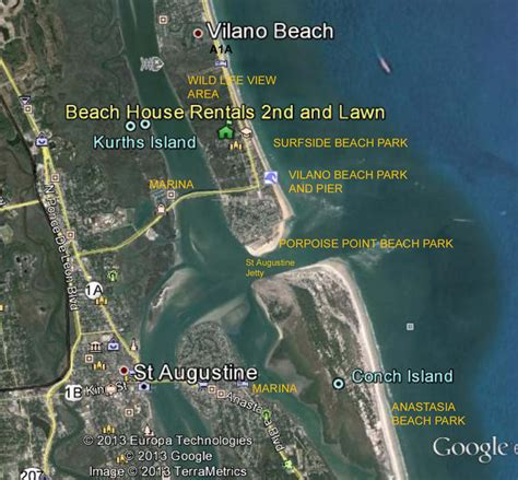 Florida Home Floor Plans maps around vilano and st augustine