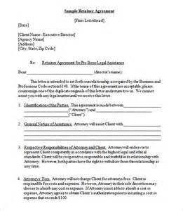 4 retainer contract templates free word pdf format