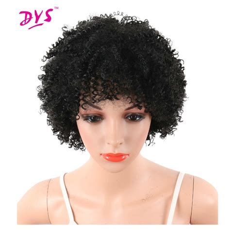 short pixie for kinky hair deyngs pixie cut short afro kinky curly synthetic wigs