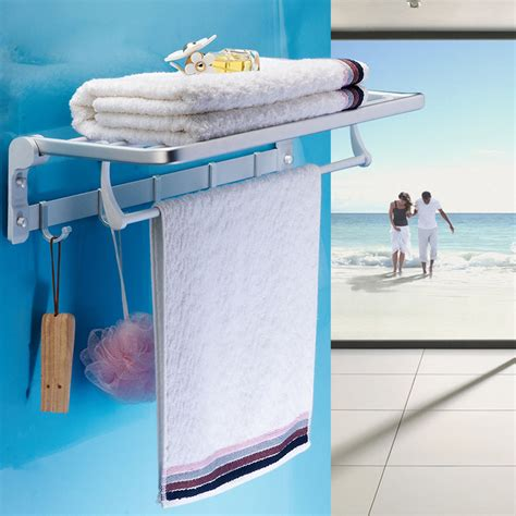 amazing restroom racks space saving hand towel stand wall mounted shower hand towel owner light