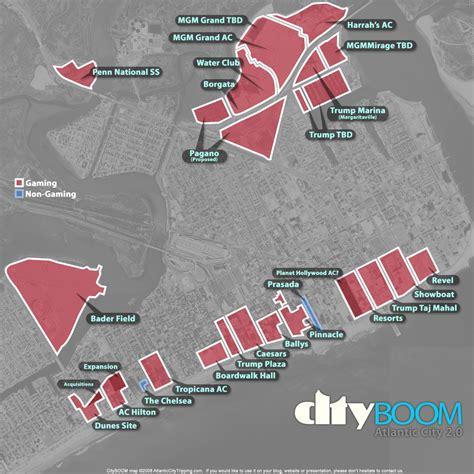 atlantic city map atlantic city casino construction projects map