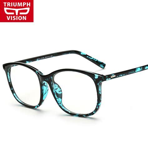 triumph vision acetate black frame eyeglasses square