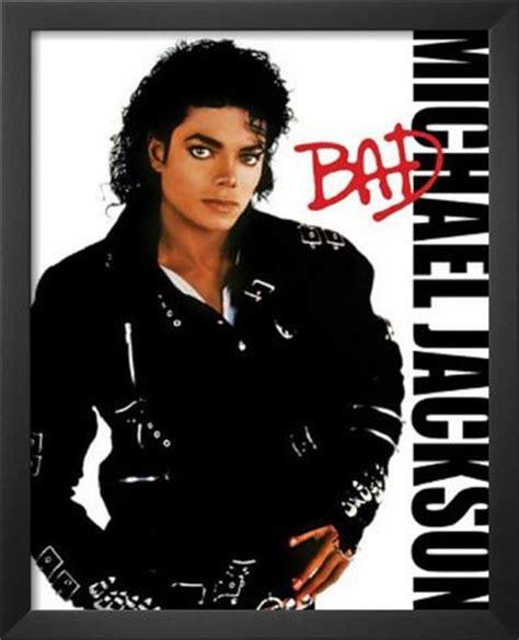 michael jackson bad album cover music poster print poster