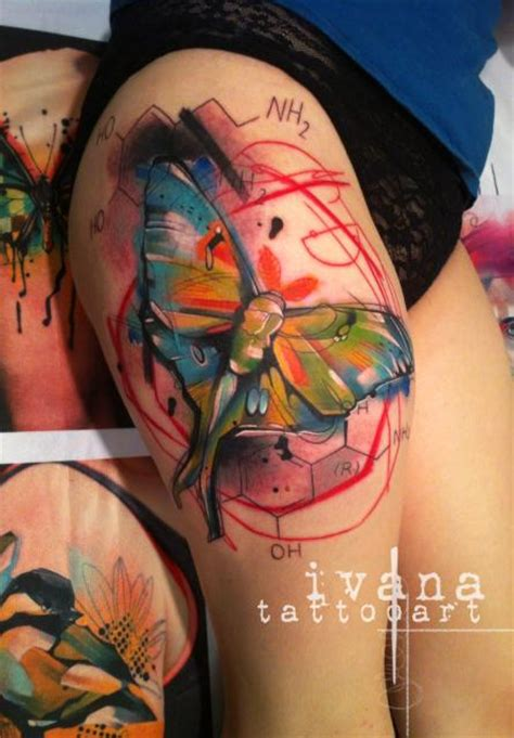watercolor tattoo barcelona watercolor butterfly by ivana tattoonow