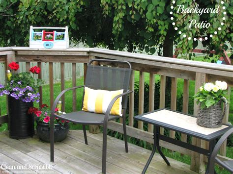 summer patio clean and scentsible