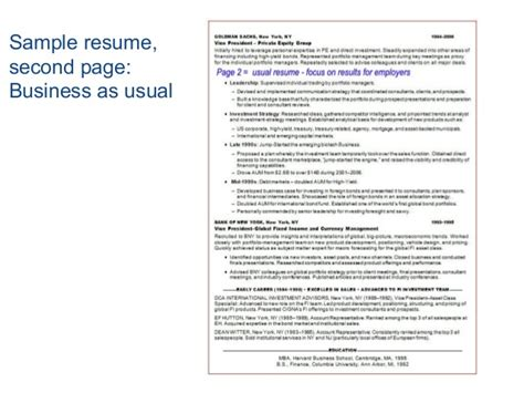 second page of resume resume ideas