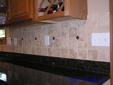 Matching Countertop And Backsplash by Tile Backsplashes With Granite Countertops Tumbled