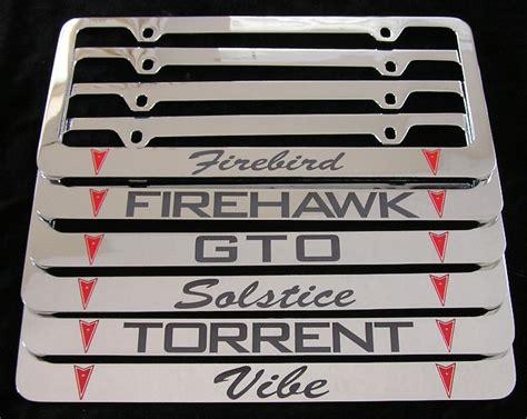 Pontiac License Plate Frame by Pontiac Logo License Plate Frames