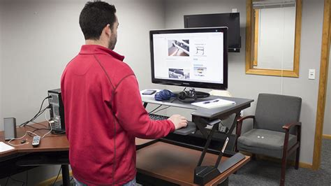 sit and stand desk reviews ergotron workfit t sit stand desk converter review pricing
