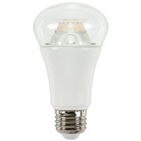 Led Light Bulbs 60w Equivalent Westinghouse 60w Equivalent Soft White A19 Led Light Bulb 0513900 The Home Depot